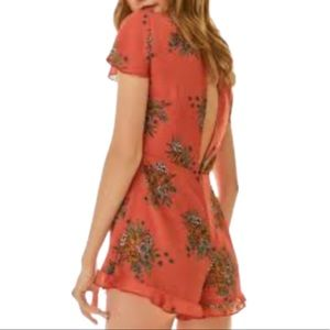 NWT Urban Outfitters Orange Floral Ruffle Romper